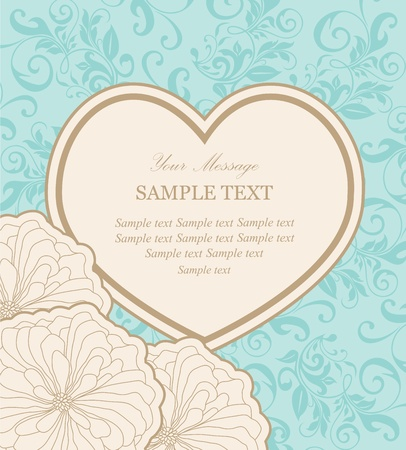 Beautiful floral vector background  Vector