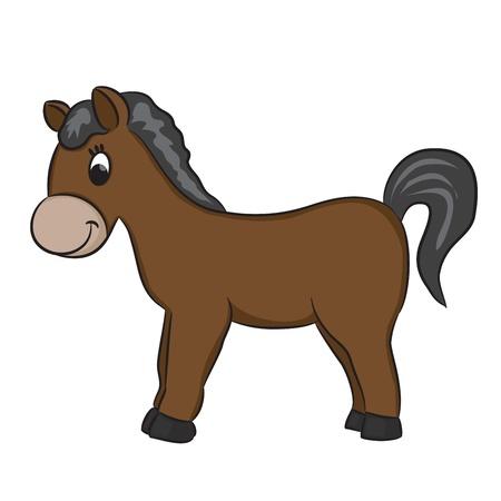pony ride: Cartoon horse - vector illustration