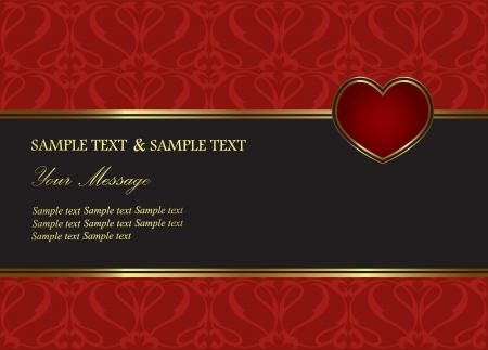 verlobung: Vector Hintergrund Perfekt als Einladung oder Ank�ndigung Illustration