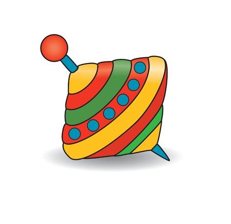 molinete: Humming-top, molinete - ilustraci�n vectorial