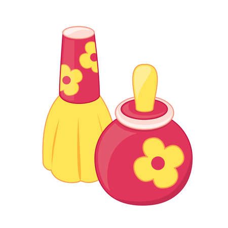 Toy perfume bottles  Vector illustration  Vector