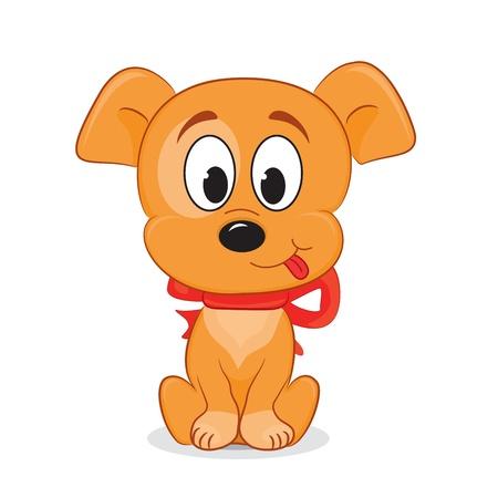 A cute cartoon dog  Vector illustration
