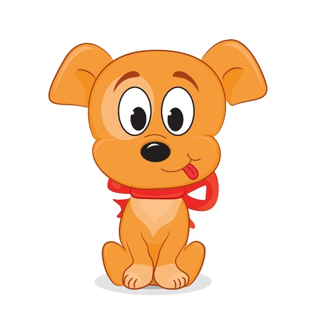 A cute cartoon dog  Vector illustration  Vector
