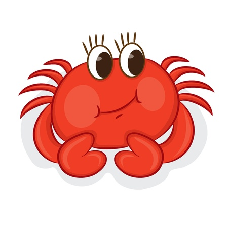 crabs: Cartoon crab  Vector illustration