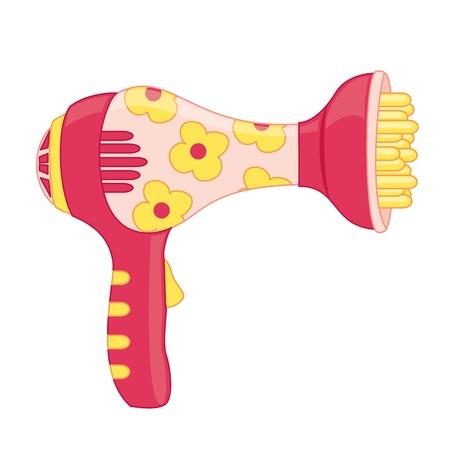 secador de pelo: Secador de pelo Toy Ilustración vectorial