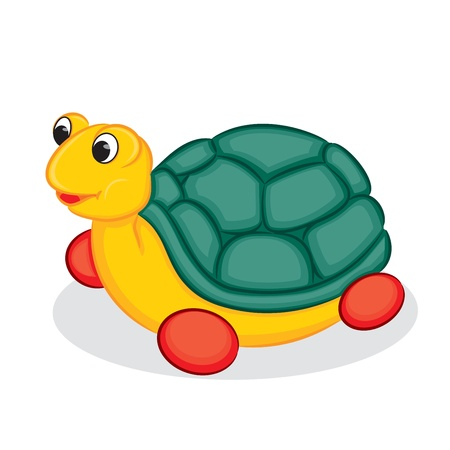 Turtle toy  illustration  Vector