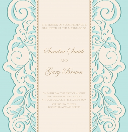 save the date: Vintage wedding invitation  Illustration
