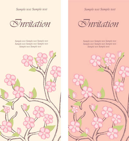 birth day: Beautiful floral invitation cards