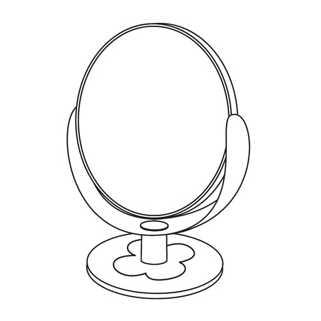 Outlined mirror toy illustration  Vector