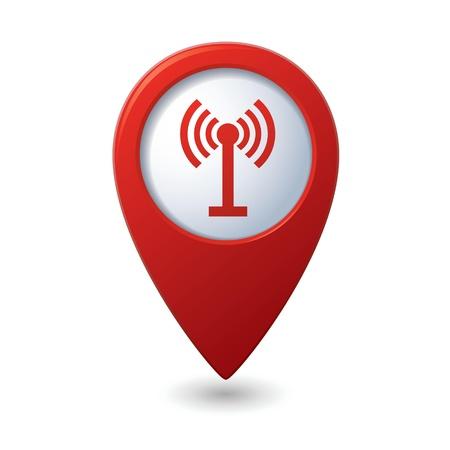 wireless network: Mapa del puntero con el icono de la ilustraci�n inal�mbrico
