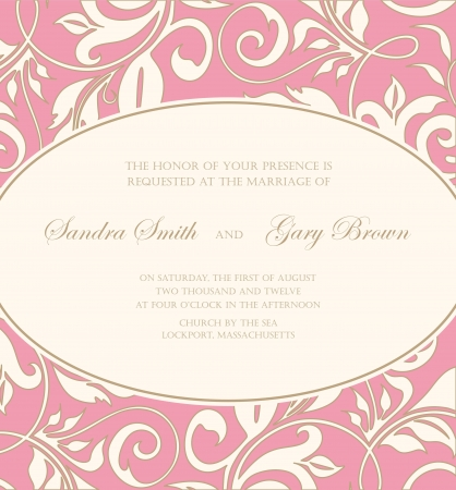 Floral wedding invitation or announcement card Stock Vector - 19704195
