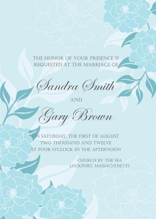 Uitnodiging bloemen kaart