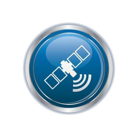 satellite navigation: icono de la comunicaci�n por sat�lite