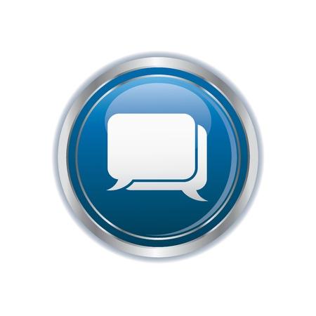 Speech bubbles icon Stock Vector - 19984786