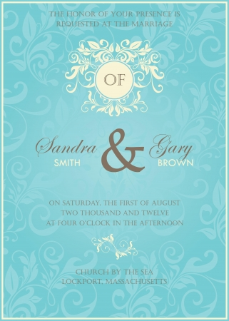 Wedding invitation Stock Vector - 19984917