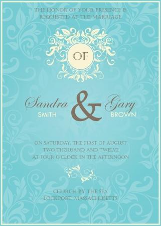 date of birth: Wedding invitation