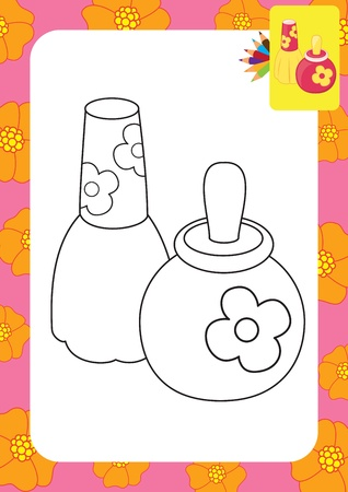 Toy perfume bottles  Coloring page Stock Vector - 20173802