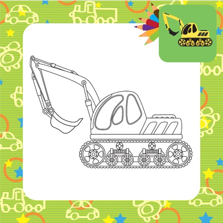 Dredge toy  Coloring page Vector
