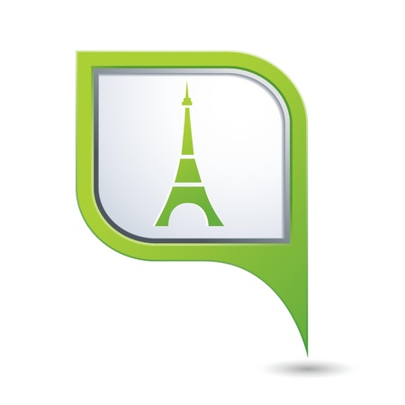 excursions: Eiffel tower icon  Map pointer