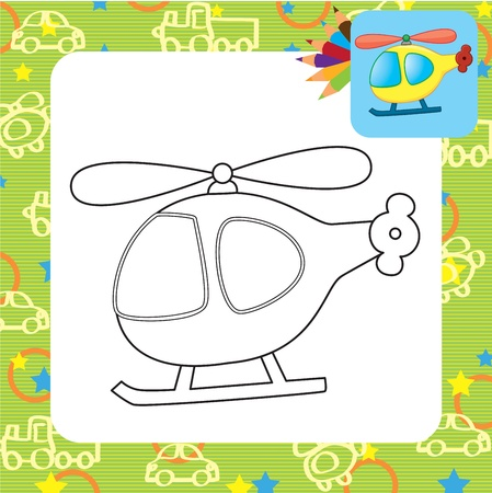 supersonic transport: Toy helicopter  Coloring page