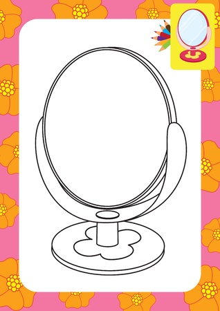Mirror toy  Coloring page Stock Vector - 20173803