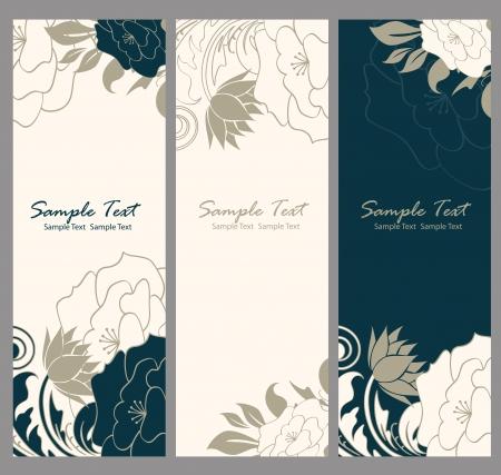 conception: Bannière floral illustration