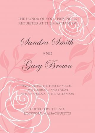 Wedding invitation template  illustration