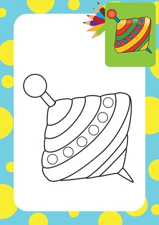 molinete: Humming-top, para colorear perinola