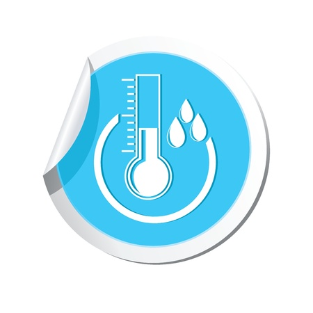predict: Weather forecast, thermometer icon