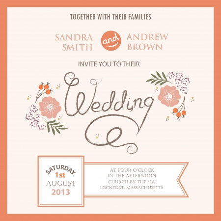 Wedding invitation card Stock Vector - 20439427