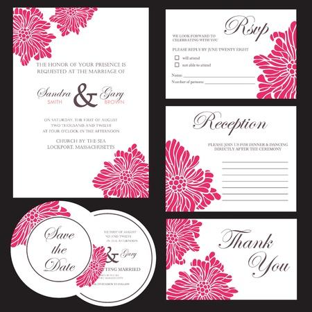 bröllop: Uppsättning bröllopinbjudankort