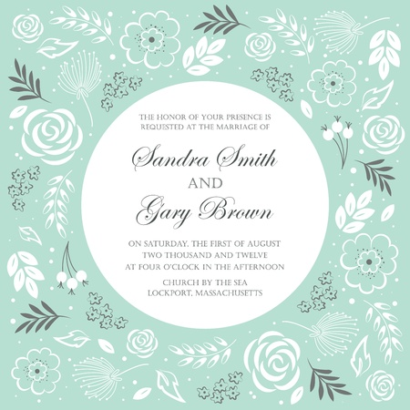 Wedding invitation template  Vector illustration Stock Vector - 20861414