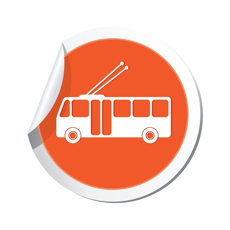 trolleybus: Trolleybus icon  Vector illustration