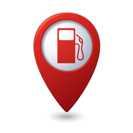 Map pointer with gas station icon  Vector illustration Stock Vector - 21014845