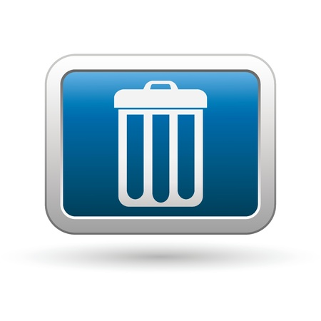delete: Trash can icon on the blue with silver rectangular button