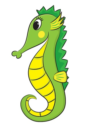 Cartoon seahorse Stock Vector - 21355219