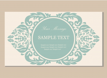 identification card: Floral vintage business card, invitation or announcement Illustration