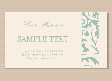 Floral vintage business card, invitation or announcement Stock Vector - 21587524