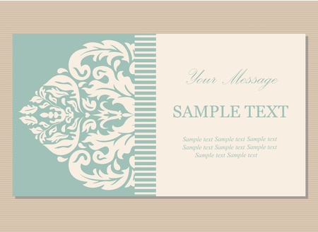 Floral vintage business card, invitation or announcement Stock Vector - 21587538