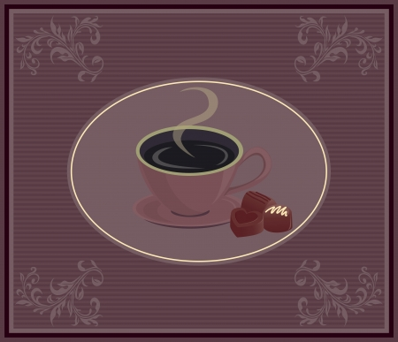 design for coffee house or shop menu, the background Vector