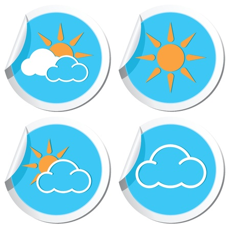 Weather forecast, sun icons set Vector