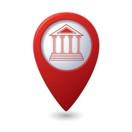 the acropolis: Map pointer with museum icon