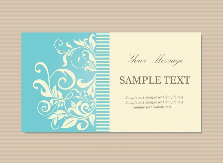 Floral vintage business or invitation card Vector