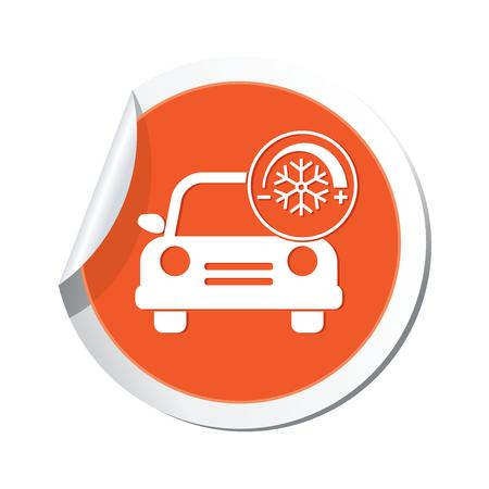 Car service  Car with air conditioner icon Stock Vector - 22346839