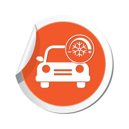 Car service  Car with air conditioner icon Stock Vector - 22346839