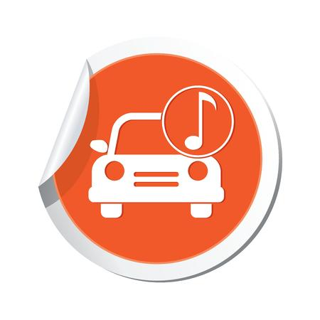 hi fi: Car service  Car with music icon Illustration