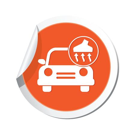 Car service  Car with vacuum cleaner icon Stock Vector - 22346851