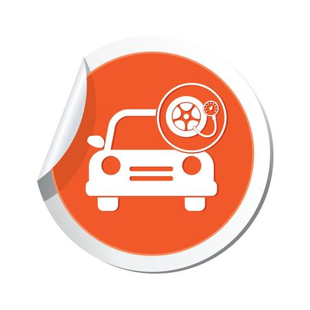 Car service  Car with wheel and pump icon Vector
