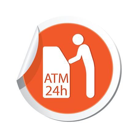 cash dispenser: ATM cashpoint icon  Vector illustration Illustration