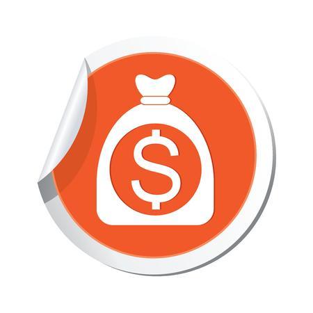 Money bag with dollar sign  Vector illustration Vector
